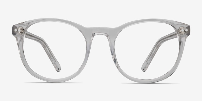 Primrose Clear Acetate Eyeglass Frames from EyeBuyDirect, Front View