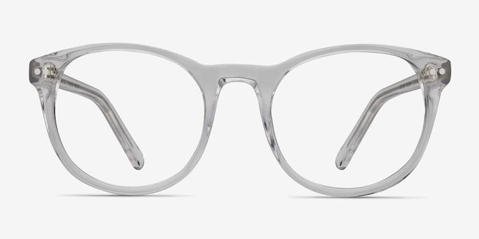 Primrose Transparent Acétate Montures de Lunettes d'EyeBuyDirect, Vue de Face