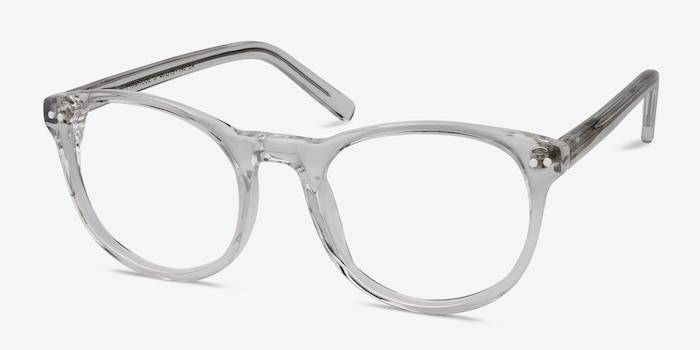 Primrose Transparent Acétate Montures de Lunettes d'EyeBuyDirect, Vue d'Angle