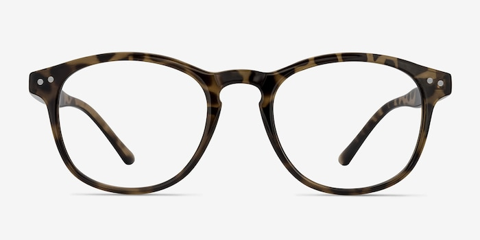 Instant Crush Leopard Plastic Eyeglass Frames from EyeBuyDirect, Front View