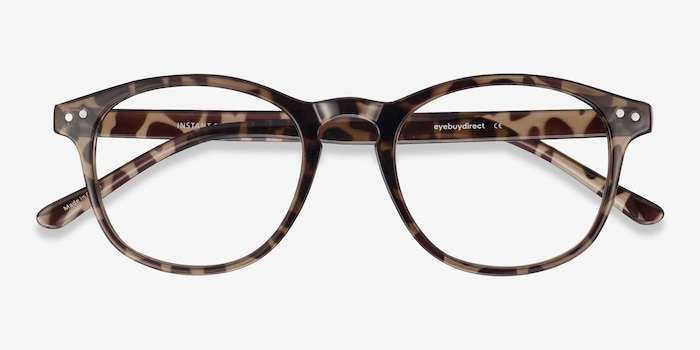 Instant Crush Leopard Plastic Eyeglass Frames from EyeBuyDirect, Closed View
