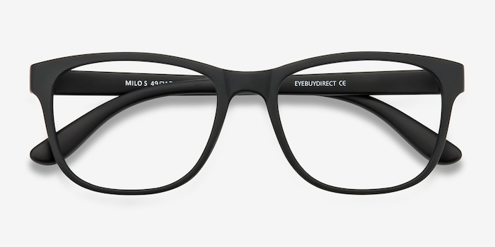 0ea4fefe2f Milo Matte Black Plastic Eyeglass Frames from EyeBuyDirect