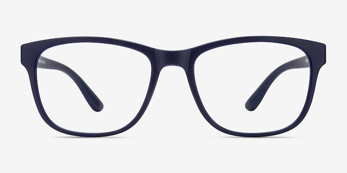 Milo Matte Navy Plastic Eyeglass Frames from EyeBuyDirect, Front View
