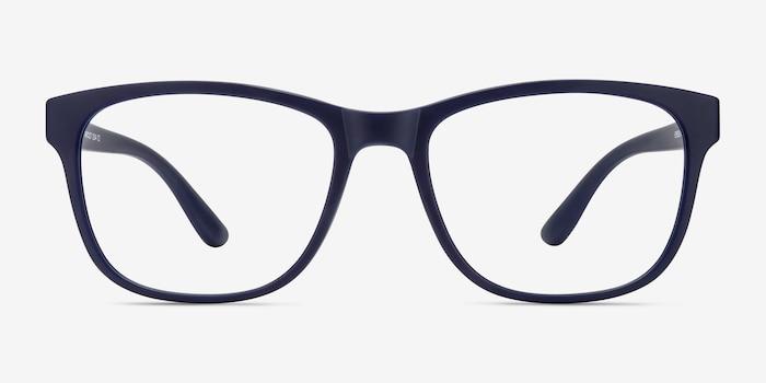 Milo Matte Navy Plastique Montures de Lunettes d'EyeBuyDirect, Vue de Face