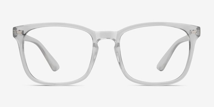 Uptown Clear Plastic Eyeglass Frames from EyeBuyDirect, Front View