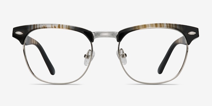 73704370bb Coexist Striped Metal Eyeglass Frames from EyeBuyDirect