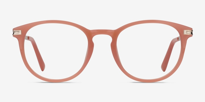 Daphne Pink Plastic Eyeglass Frames from EyeBuyDirect, Front View