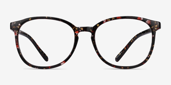 Dutchess Floral Plastic Eyeglass Frames from EyeBuyDirect, Front View