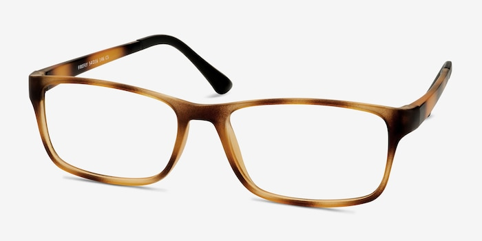 Firefly Tortoise Plastic Eyeglass Frames from EyeBuyDirect, Angle View