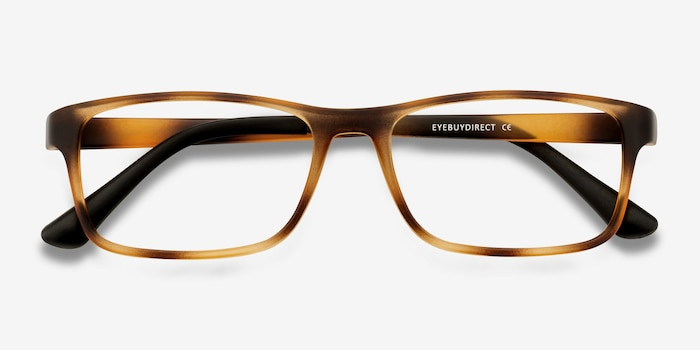 Firefly Tortoise Plastic Eyeglass Frames from EyeBuyDirect, Closed View