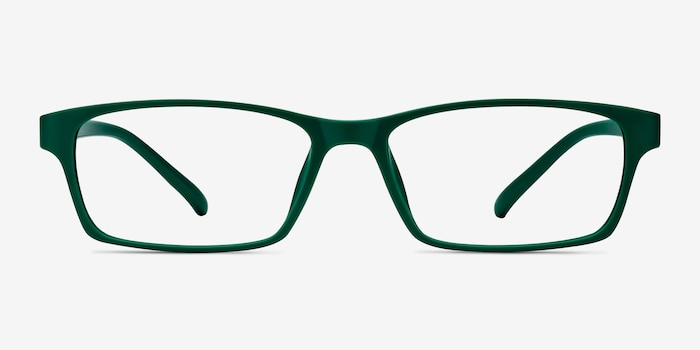 Madras Green Plastic Eyeglass Frames from EyeBuyDirect, Front View