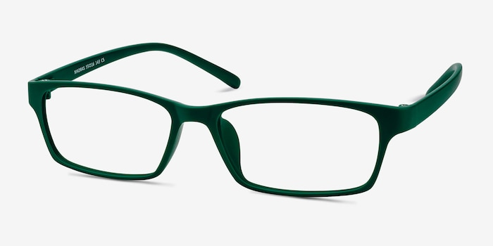 Madras Green Plastic Eyeglass Frames from EyeBuyDirect, Angle View