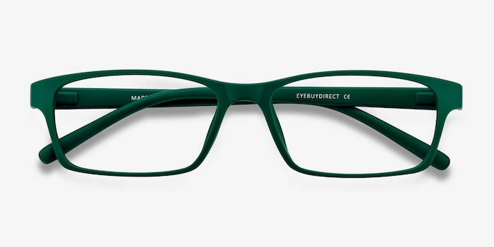 Madras Green Plastic Eyeglass Frames from EyeBuyDirect, Closed View