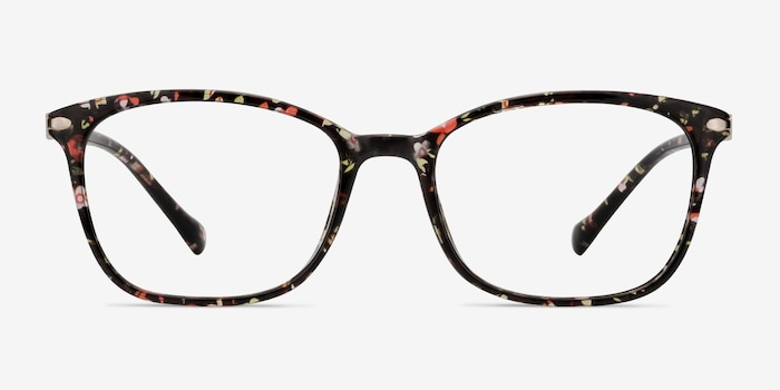 Nola Pink Floral Plastic Eyeglass Frames from EyeBuyDirect, Front View