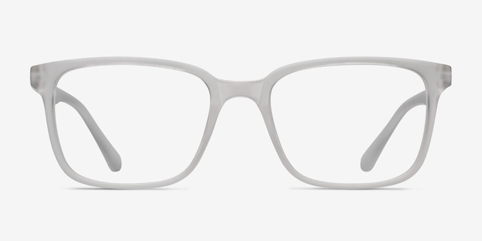 November Matte Clear Plastic Eyeglass Frames from EyeBuyDirect, Front View