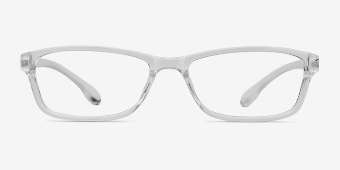 Versus Clear Plastic Eyeglass Frames from EyeBuyDirect, Front View