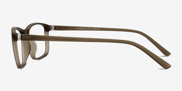 Wyoming Matte Hazel Plastic Eyeglass Frames from EyeBuyDirect, Side View