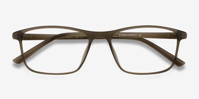 Wyoming Matte Hazel Plastic Eyeglass Frames from EyeBuyDirect, Closed View
