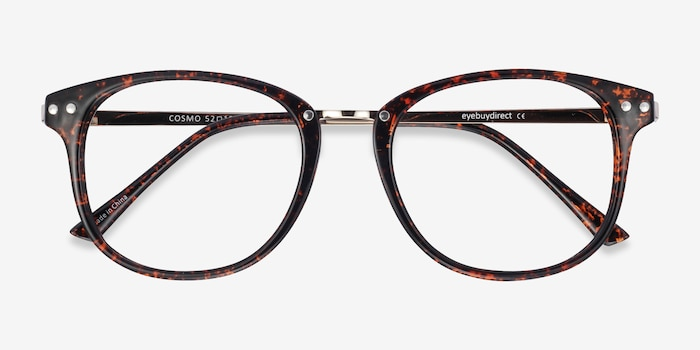 Cosmo Tortoise Plastic-metal Eyeglass Frames from EyeBuyDirect, Closed View