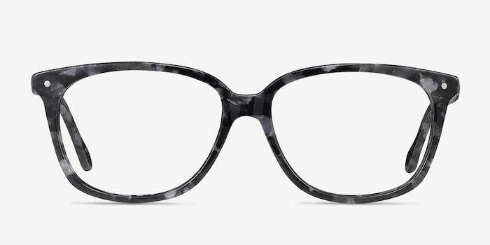 Escape Marbled Gray Acetate Eyeglass Frames from EyeBuyDirect, Front View