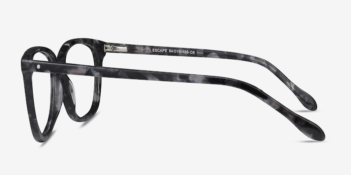 Escape Marbled Gray Acetate Eyeglass Frames from EyeBuyDirect, Side View