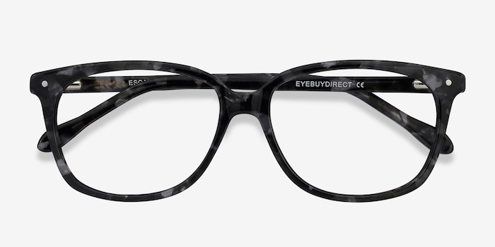 Escape Marbled Gray Acetate Eyeglass Frames from EyeBuyDirect, Closed View