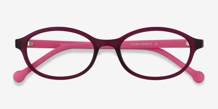 Skipper Purple Plastic Eyeglass Frames from EyeBuyDirect, Closed View