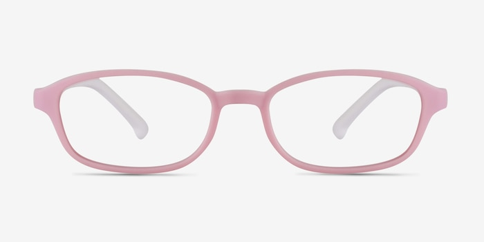 Sprint Pink Plastic Eyeglass Frames from EyeBuyDirect, Front View