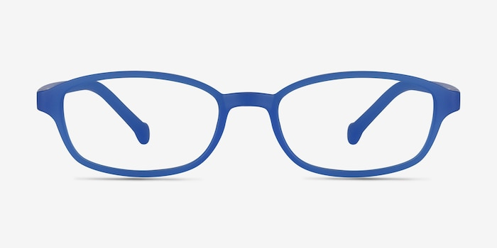 Sprint Blue Plastic Eyeglass Frames from EyeBuyDirect, Front View