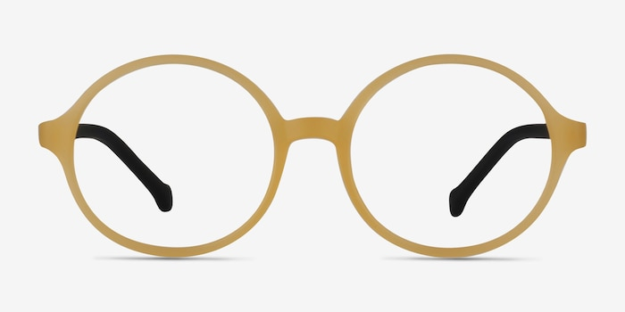 Circo Yellow Plastic Eyeglass Frames from EyeBuyDirect, Front View
