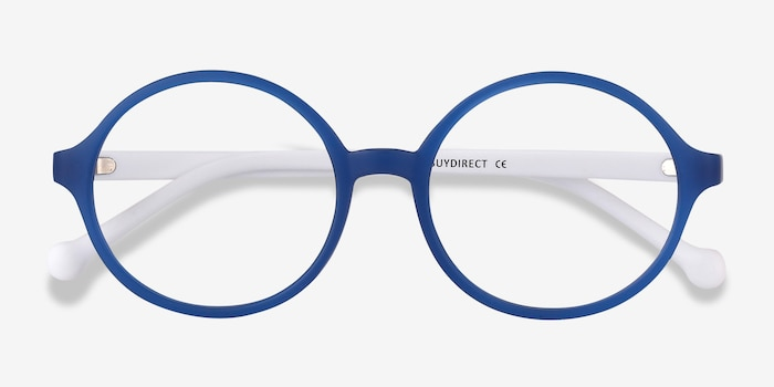 Circo Blue Plastic Eyeglass Frames from EyeBuyDirect, Closed View