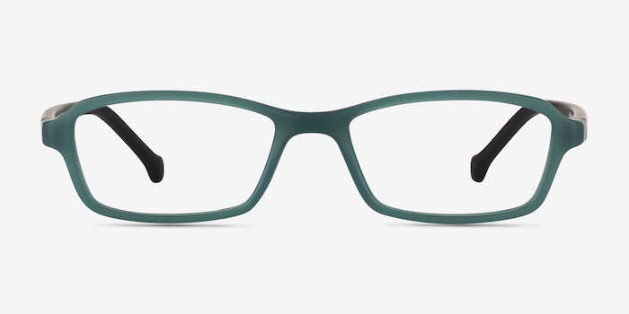 Nimbus Green Plastic Eyeglass Frames from EyeBuyDirect, Front View