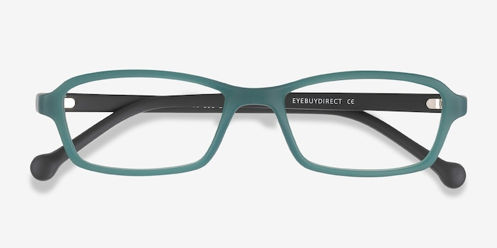 Nimbus Green Plastic Eyeglass Frames from EyeBuyDirect, Closed View