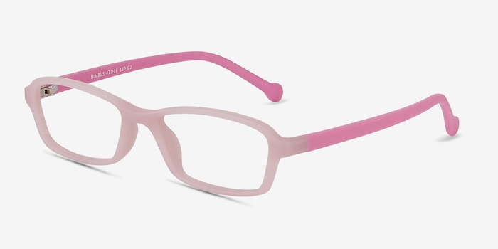 Nimbus Pink Plastic Eyeglass Frames from EyeBuyDirect, Angle View