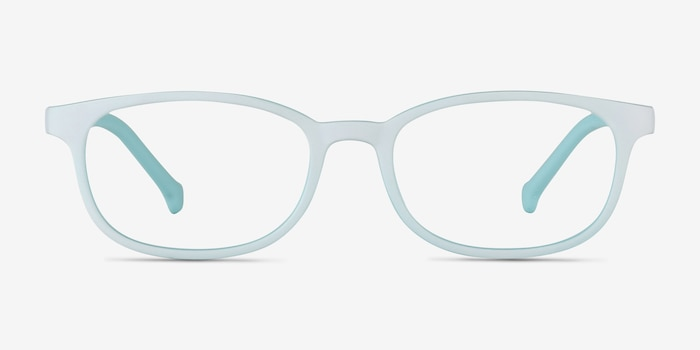 Bound Green Plastic Eyeglass Frames from EyeBuyDirect, Front View