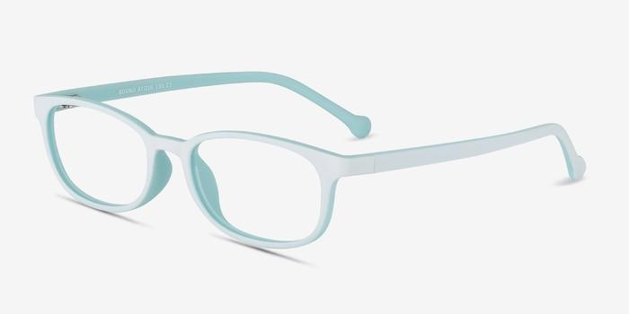Bound Vert Plastique Montures de Lunettes d'EyeBuyDirect, Vue d'Angle