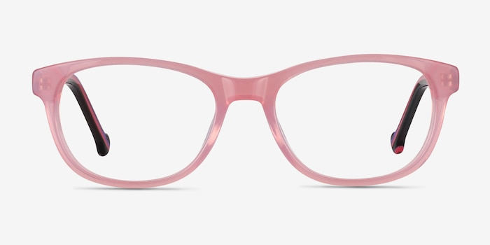 Nifty Pink Acetate Eyeglass Frames from EyeBuyDirect, Front View