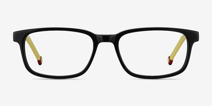 Totes Black Acetate Eyeglass Frames from EyeBuyDirect, Front View
