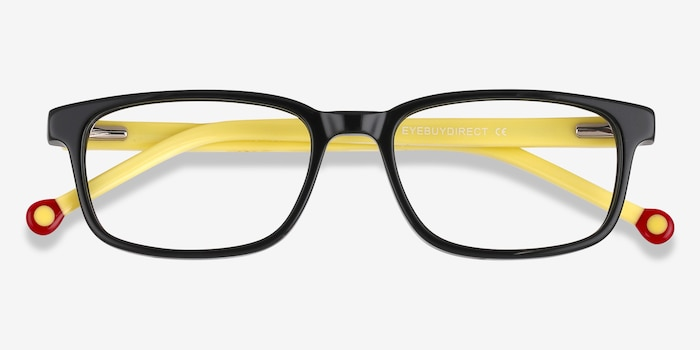 Totes Black Acetate Eyeglass Frames from EyeBuyDirect, Closed View