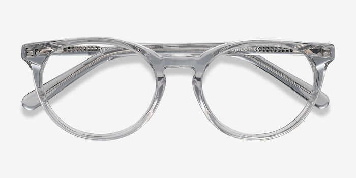 Morning Gray Clear Acetate Eyeglass Frames from EyeBuyDirect, Closed View