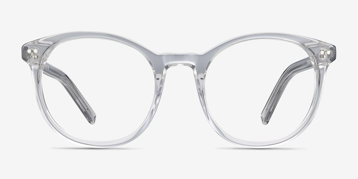Primrose Gray Clear Acetate Eyeglass Frames from EyeBuyDirect, Front View