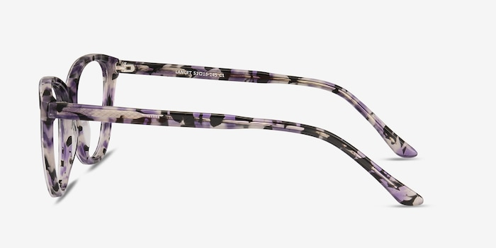 Lancet Purple Floral Acetate Eyeglass Frames from EyeBuyDirect, Side View