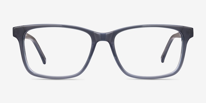 Prologue Blue Acetate Eyeglass Frames from EyeBuyDirect, Front View