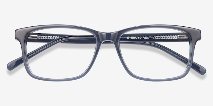 Prologue Blue Acetate Eyeglass Frames from EyeBuyDirect, Closed View