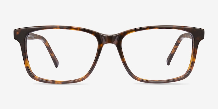 Prologue Tortoise Acetate Eyeglass Frames from EyeBuyDirect, Front View