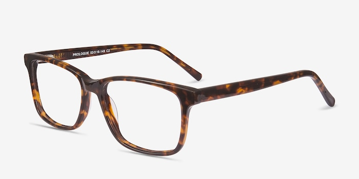 Prologue Tortoise Acetate Eyeglass Frames from EyeBuyDirect, Angle View