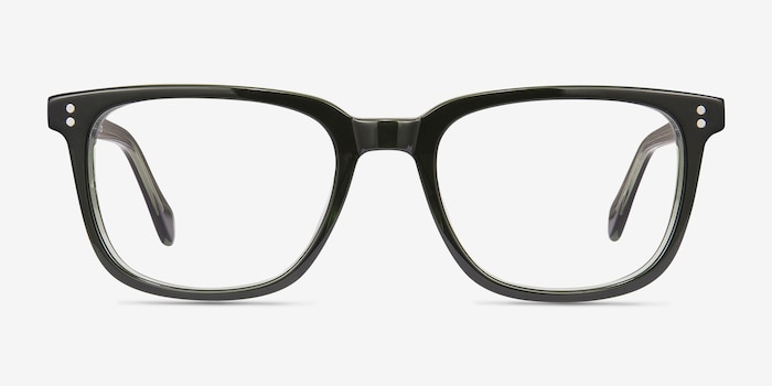 Kent Green Acetate Eyeglass Frames from EyeBuyDirect, Front View
