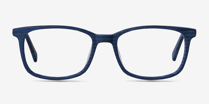 Botanist Navy Striped Acetate Eyeglass Frames from EyeBuyDirect, Front View