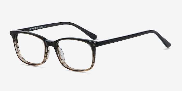 Botanist Gray Brown Acetate Eyeglass Frames from EyeBuyDirect, Angle View