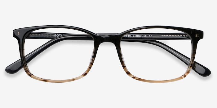 Botanist Gray Brown Acetate Eyeglass Frames from EyeBuyDirect, Closed View